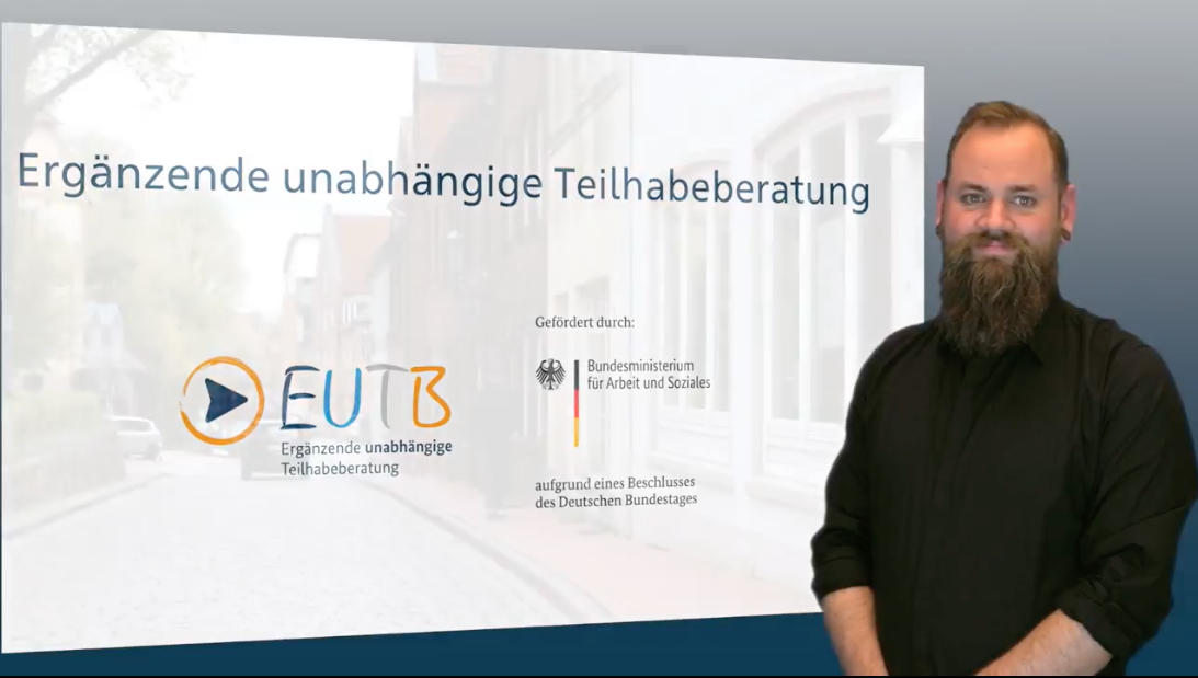 Youtube-Video: Alle Informationen über die EUTB in Gebärdensprache